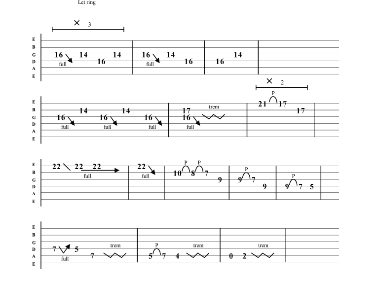 Guitar u00bb Enter Sandman Guitar Tabs - Music Sheets, Tablature, Chords and Lyrics