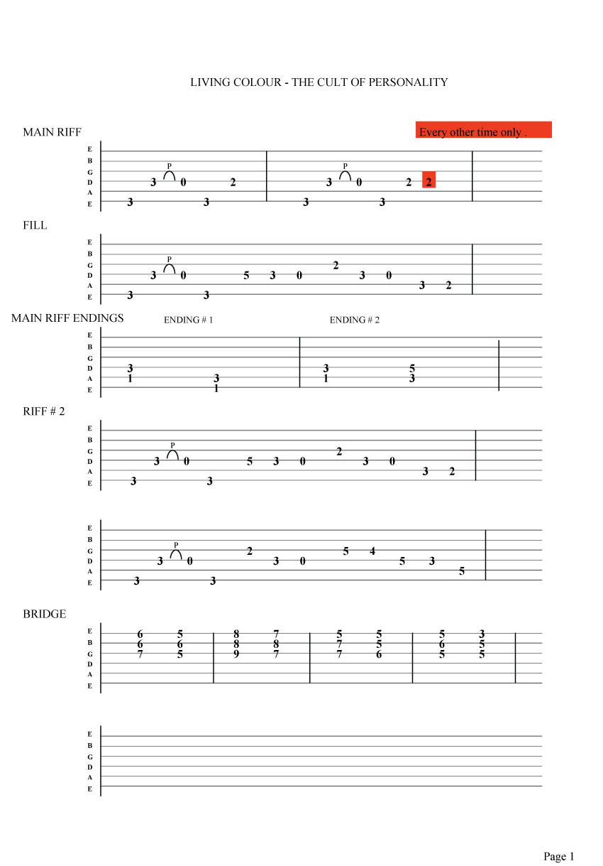 What are the chords of a guitar